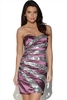 Striped Sequin Bandeau Dress