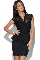 TFNC Kristy Lace Cross Over Peplum Dress