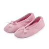 Women's Clothing isotoner Terry Ballerina Slippers Pale Pink Large (UK 5-6)