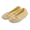 Women's Clothing isotoner Terry Ballerina Slippers Yellow Large (UK 5-6)