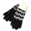 Clothing Accessories SmarTouch Ladies Chunky Knit 3 Finger Touchscreen Gloves Black/Cream Heart One Size