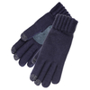 Clothing Accessories SmarTouch Ladies Chunky Knit 3 Finger Touchscreen Gloves Navy One Size