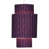 Lighting  - Box Pleat Non Electric Plum Paper Lampshade
