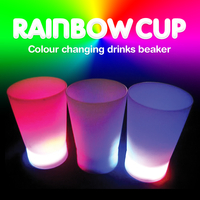 Decorations  - Light Up Rainbow Cups