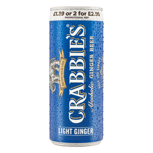Crabbies Light Ginger Beer 250ml