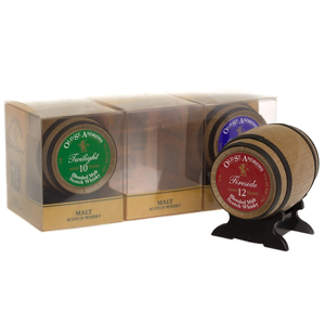 Alcoholic Drinks  - Old St Andrews Coopers Choice Miniature Whisky Barrel 3x 5cl Set