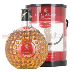 Alcoholic Drinks  - Old St Andrews Fireside Golf Ball 12 Year Whisky 70cl