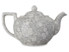 Crockery Burleigh Dove Grey Calico Large Teapot