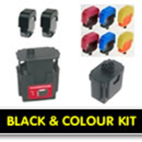 Printer Consumables  - Dell M4640 / Series 5 / 592-10135 / M4646 / Series 5 / 592-10136 Black & Colour MULTI-PACK Easy Refill Kits