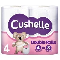 Cleaning  - Cushelle white Double Roll toilet rolls