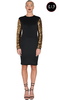Women's Accessories Fabienne Nyx Black and Gold Sequin Sleeve Bodycon Dress