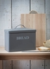 Bread Bin in Charcoal - Steel