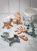 Christmas Cookie Cutters in Chalk and Charcoal