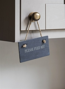 Home Accessories  - Feed Me Pet Sign in Slate