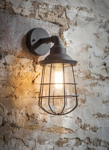Lighting  - Finsbury Wall Light in Charcoal - Steel