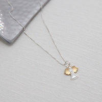 Gifts  - Silver & Gold Angel Necklace
