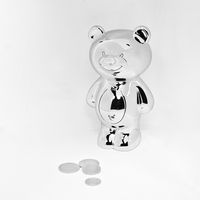 Gifts  - Silver Plated Teddy Money Box