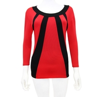 General Clothing   - Elite Black And Red Luxe Stripe Top 12