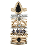 Women's Jewellery Supreme Stacking Ring Set Gold