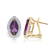 Women's Jewellery Amethyst and Diamond French Clip Halo Earrings 3.3ctw in 9ct Gold