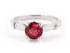 Women's Jewellery Ruby Solitaire Ring 2 ct in Sterling Silver