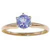 Women's Jewellery Tanzanite Crown Solitaire Ring 0.65ct in 9ct Gold