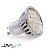 Lighting  - Lumilife 4 Watt GU10 LED Bulb Wide Beam Angle Cool White Dimmable