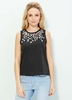 Women's Tops Yumi Black & Beaded Top
