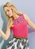 Women's Tops Yumi Pink & Beaded Top
