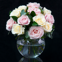 - Designer Luxury Pink & White Rose Bouquet