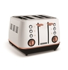 Toasters Evoke Rose Gold and White Special Edition 4 Slice Toaster
