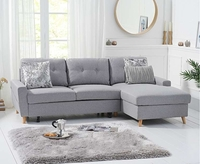 - Ex-display Constance Double Sofa Bed Right Facing Chaise in Grey Linen