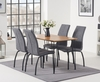 Kalmar 120cm Dining Table with Noir Antique Dining Chairs - Brown,  4 Chairs
