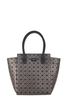 Mila Structured Tote -  Aztec/Geometric Print - Pewter