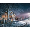"Jigsaw Puzzle Terry Redlin 1000 Pieces 24""X30""-Winter Wonderland"
