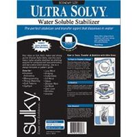 "General Household  - Ultra Solvy Water Soluble Stabilizer-19-1/2""X3 Yards"