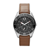 Armani Exchange Sports Watch With Leather Stap