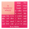 Valentines Magnetic Love Letter Kit with 50 Magnetic Words
