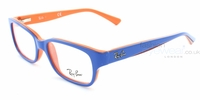 Glasses  - Ray-Ban Junior RB1527 3578 Top Blue on Orange