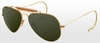 Ray-Ban Outdoorsman RB3030 L0216 Gold Arista Crystal Green