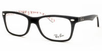 Glasses  - Ray-Ban RB5228 5014 Top Black On Texture White