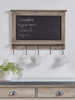 Storage Wooden Chalk Board with Hooks