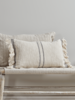 Home Accessories Woven Fringed Cushion