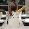 Leather Handled Silver Wine Cooler - Pre-Order - Due Late October