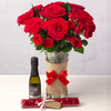 Flowers Romantic Red Roses Gift Set