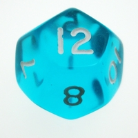 Other Toys  - 12 Sided Gem Dice Assorted Colours