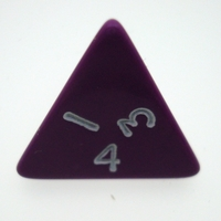 Other Toys  - 4 Sided Opaque Dice Purple