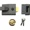 Yale Locks P89 Deadlock Nightlatch Brasslux 60mm Backset