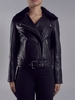 Women's Outerwear Chambra Cropped Black Leather Jacket