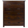 Boston Five Drawer Chest - Brown